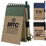 Recycled Jotter with Matching Color Recycled Paper Pen