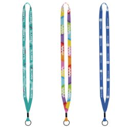 12 Dye Sublimated Lanyard with Metal Crimp and Split Ring